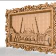 Descargar modelos 3D gratis Taj mahal arte del marco del enrutador cnc, CNC_file_and_3D_Printing