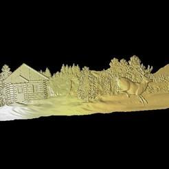 Descargar modelos 3D gratis ciervos nevados corriendo junto a un router cnc de cabina, CNC_file_and_3D_Printing