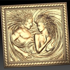 Free 3D model Man and woman in a bed cnc art router, CNC_file_and_3D_Printing