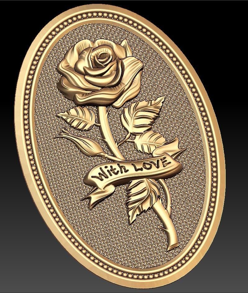 164.jpg Télécharger fichier STL gratuit Rose avec l'amour cnc cadre art routeur • Objet à imprimer en 3D, CNC_file_and_3D_Printing