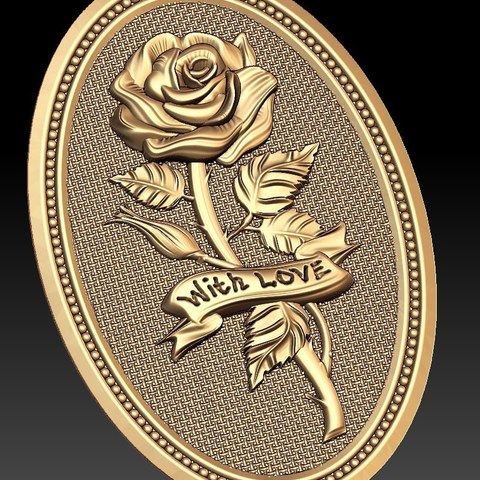 Download free 3D printing templates Rose with love cnc frame art router, CNC_file_and_3D_Printing