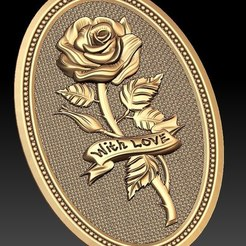 Descargar archivos STL gratis Rose with love cnc frame art router, CNC_file_and_3D_Printing