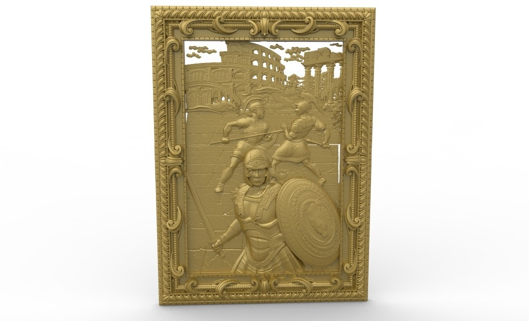 untitled.66.jpg Télécharger fichier STL gratuit Rome antic cirque combat de gladiateur maximum cnc routeur de combat de gladiateur de cirque antique • Design à imprimer en 3D, CNC_file_and_3D_Printing