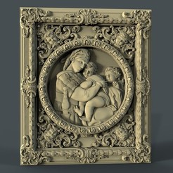 Download free 3D printing models Rafael madonna cnc art frame router, CNC_file_and_3D_Printing