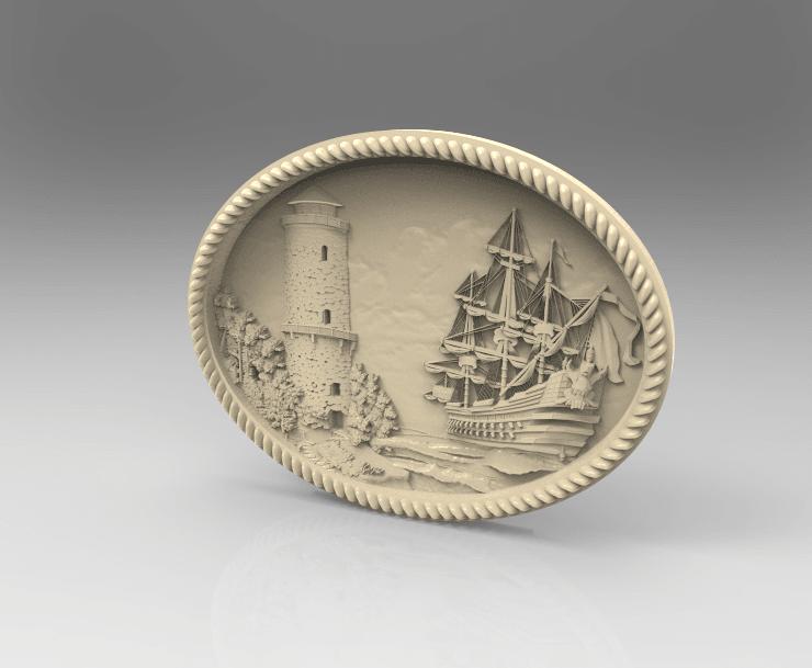 Screenshot_13.png Télécharger fichier STL gratuit bateau bateau tour de mer attaque cnc art frame • Design imprimable en 3D, CNC_file_and_3D_Printing