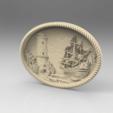 Télécharger STL gratuit bateau bateau tour de mer attaque cnc art frame, CNC_file_and_3D_Printing