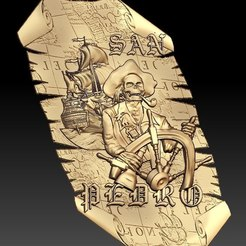 Free 3D printer files san pedro skull pirate ship boat cnc art frame, CNC_file_and_3D_Printing