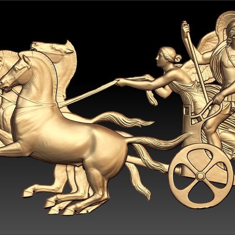 Descargar archivo 3D gratis dios griego caballos cnc art router, CNC_file_and_3D_Printing