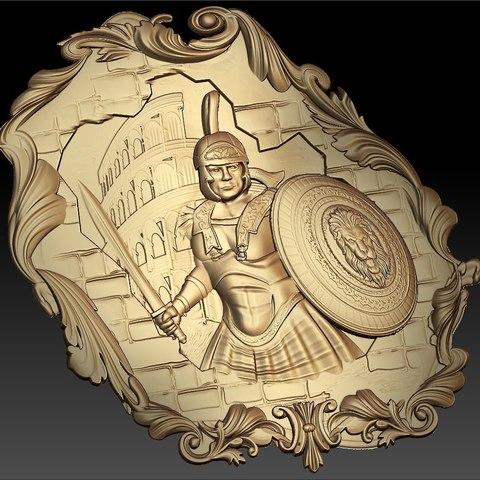 53.jpg Télécharger fichier STL gratuit spartacus gladiator rome circus maximus circus maximus antic cnc art frame router • Modèle pour impression 3D, CNC_file_and_3D_Printing