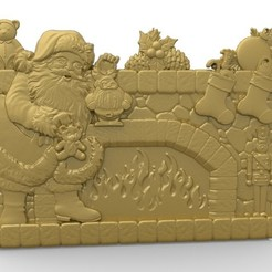 Download free 3D print files santa claus near chimney fire, CNC_file_and_3D_Printing