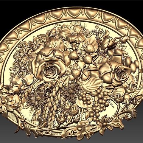 Impresiones 3D gratis Enrutador de marcos de regalo Flowers cnc, CNC_file_and_3D_Printing