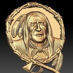 Download free 3D printing templates native american indian, cnc art frame, CNC_file_and_3D_Printing