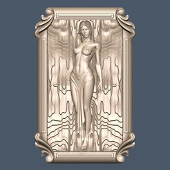 Download free STL file woman naked cnc • 3D printable template, CNC_file_and_3D_Printing