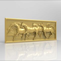 Imprimir en 3D gratis caballos corriendo enrutador cnc, CNC_file_and_3D_Printing