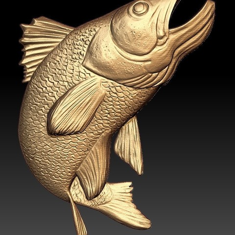 Download free STL file salmon trout fish cnc router art • 3D printable object, CNC_file_and_3D_Printing