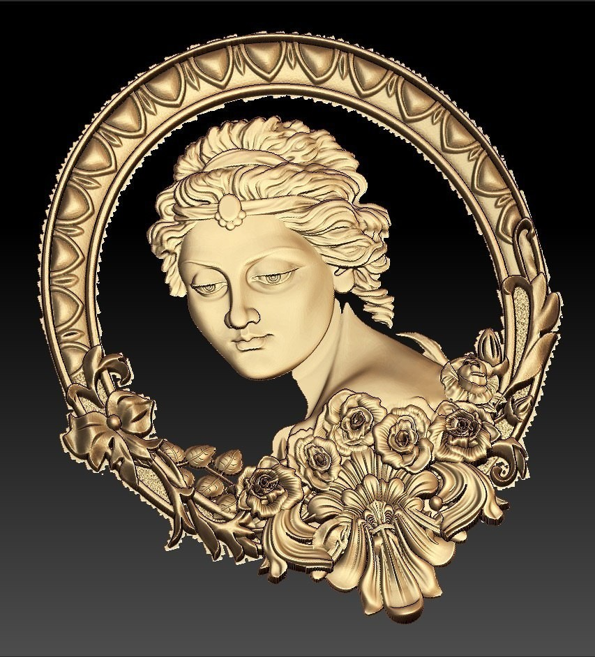 43.jpg Télécharger fichier STL gratuit Lady princesse cnc art miroir • Modèle à imprimer en 3D, CNC_file_and_3D_Printing