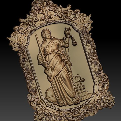 Download free 3D print files blind justice metaphore metaphoric cnc art, CNC_file_and_3D_Printing