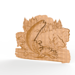 Impresiones 3D gratis router cnc para saltar truchas en el río, CNC_file_and_3D_Printing
