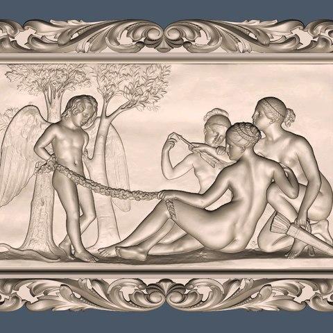 Imprimir en 3D gratis mujer desnuda y ángel, CNC_file_and_3D_Printing