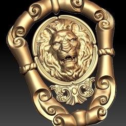 Télécharger objet 3D gratuit Lion frappe à la porte cnc art, CNC_file_and_3D_Printing