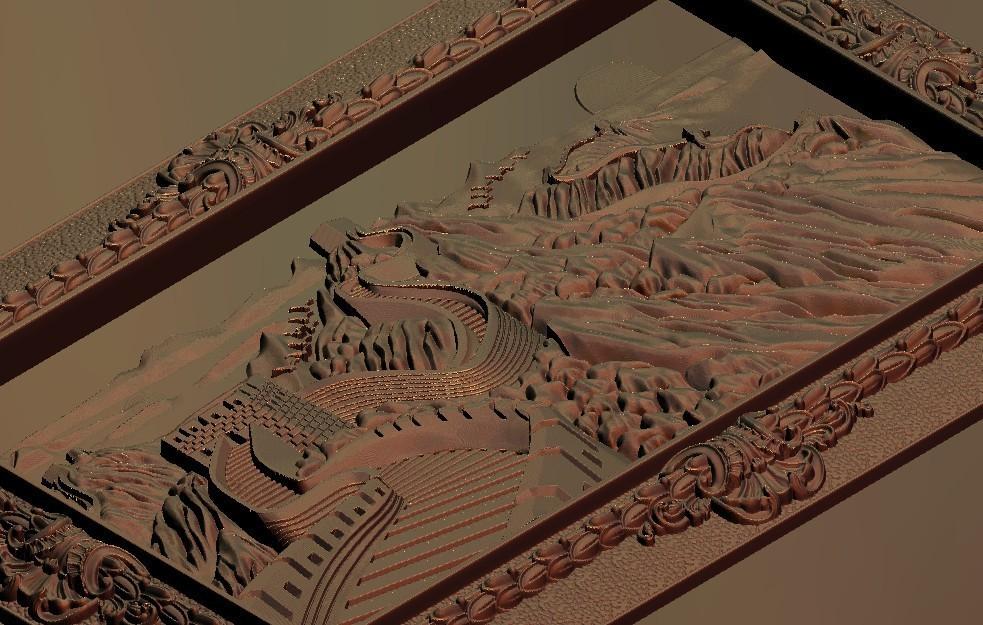 333-1.jpg Télécharger fichier STL gratuit Superbe machine à router cnc murale chinoise avec cadre d'art • Plan à imprimer en 3D, CNC_file_and_3D_Printing