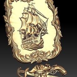 Descargar modelos 3D gratis barco pirata barco cnc arte marco router, CNC_file_and_3D_Printing