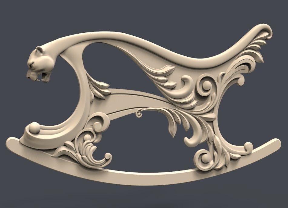 Kreslo-Kachalka_levaya.jpg Download free STL file Kreslo Kachalka levaya puma cnc art • 3D print model, CNC_file_and_3D_Printing