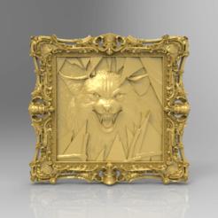Descargar diseños 3D gratis Agresivo zorro lobo frame cnc, CNC_file_and_3D_Printing
