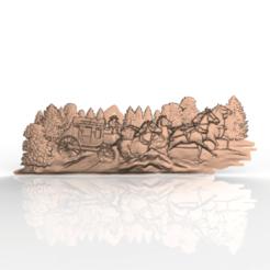 Descargar Modelos 3D para imprimir gratis diligence cnc router cowboy far west, CNC_file_and_3D_Printing