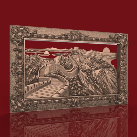 Screenshot_452.png Télécharger fichier STL gratuit Superbe machine à router cnc murale chinoise avec cadre d'art • Plan à imprimer en 3D, CNC_file_and_3D_Printing