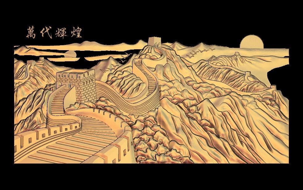 1.jpg Télécharger fichier STL gratuit Superbe machine à router cnc murale chinoise avec cadre d'art • Plan à imprimer en 3D, CNC_file_and_3D_Printing