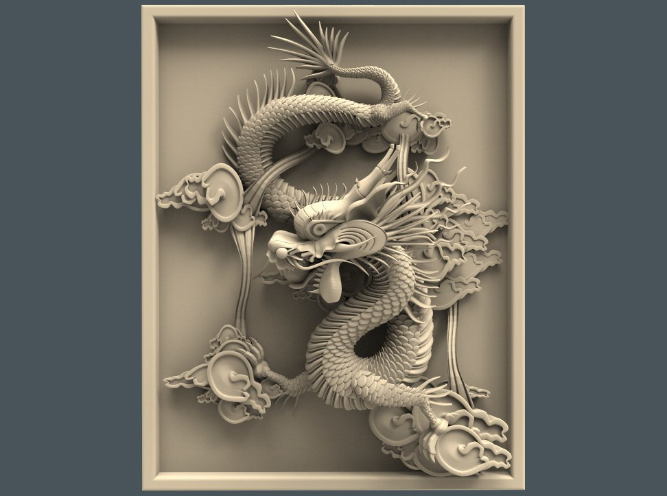 Panno_drakon.jpg Télécharger fichier STL gratuit Art du dragon chinois cnc • Objet pour impression 3D, CNC_file_and_3D_Printing