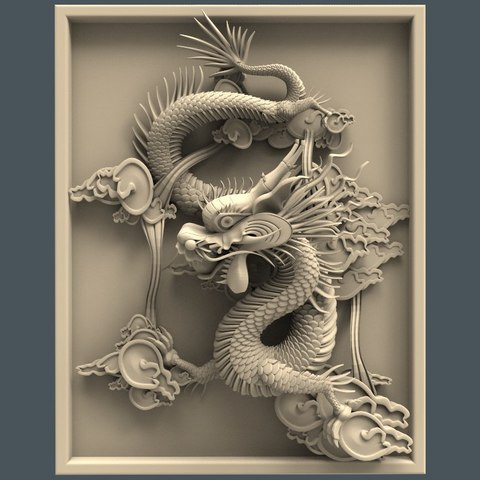 Free STL file Chinese dragon art cnc, CNC_file_and_3D_Printing