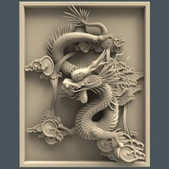Download free STL file Chinese dragon art cnc • Design to 3D print, CNC_file_and_3D_Printing