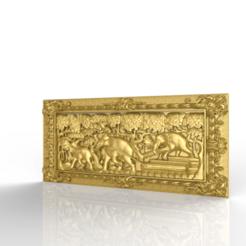 Télécharger fichier imprimante 3D gratuit Elefants cadre de travail cnc, CNC_file_and_3D_Printing