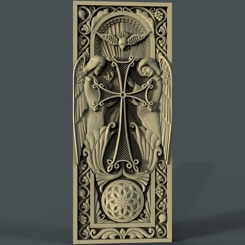 Download free STL file Religious frame cnc art router • 3D printer design, CNC_file_and_3D_Printing