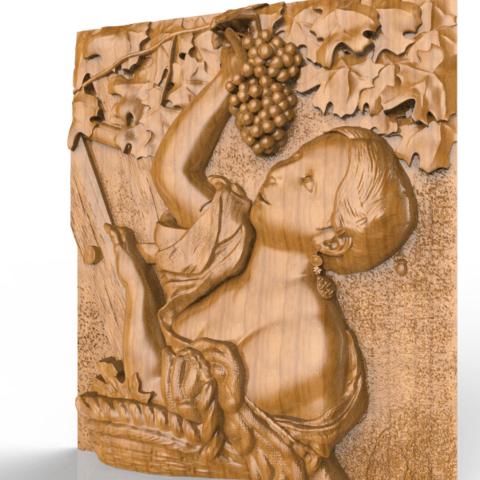 Screenshot_346.png Download free STL file woman wine grapefruit raisin • Model to 3D print, CNC_file_and_3D_Printing