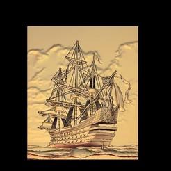 Télécharger fichier imprimante 3D gratuit bateau sur la caravelle de mer colombes, CNC_file_and_3D_Printing
