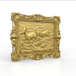 Télécharger fichier 3D gratuit Lion chasse animal zèbre zèbre cnc cadre, CNC_file_and_3D_Printing
