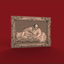 Descargar Modelos 3D para imprimir gratis maria y josé con el pequeño jesucristo router cnc arte religioso, CNC_file_and_3D_Printing