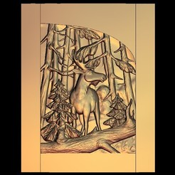 Descargar diseños 3D gratis ciervo en el bosque cnc router alce, CNC_file_and_3D_Printing