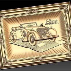 Descargar STL gratis Bergmeister car vintage old cnc router, CNC_file_and_3D_Printing