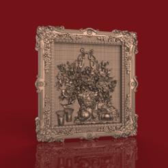 Télécharger plan imprimante 3D gatuit cadre cnc fleurs, CNC_file_and_3D_Printing