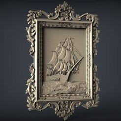 Imprimir en 3D gratis enrutador de arte cnc de marco de barco, CNC_file_and_3D_Printing