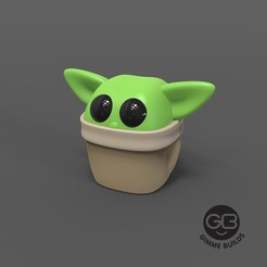 Download free STL Chibi Baby Yoda - Revision 2 (R2), GimmeBuilds