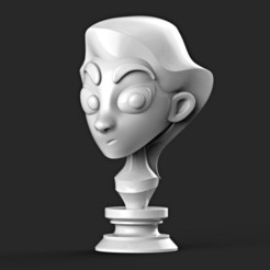 3D printing model GIRL STYLIZED EMOTION ( ACTION FIGURE , POTRAIT , MINIATURE ), MatteoMoscatelli