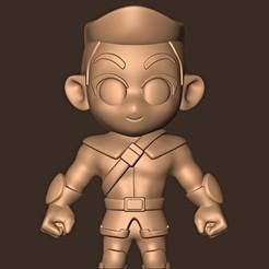 b.jpg Download STL file Hawkeye chibi ( Clint Barton ) Avengers Endgame • 3D print template, MatteoMoscatelli