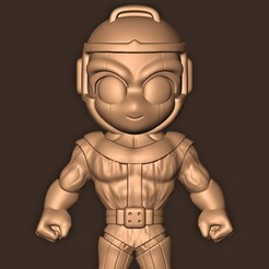 b.jpg Download STL file Kang the Conqueror Chibi • Object to 3D print, MatteoMoscatelli