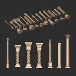 56.jpg Download OBJ file COLUMN CLASSIC ARCHITECTURE DECORATIVE • 3D printable template, MatteoMoscatelli