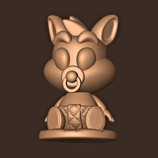 b.jpg Download STL file Baby Crash Bandicoot  • 3D print template, MatteoMoscatelli